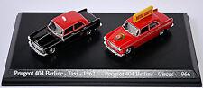 Peugeot 404 Berline set 2 Cars-taxi 1962 + Circus Royal 1966 1:87 uh