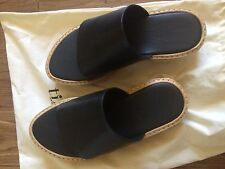 Tibi Masha Espadrille Black Leather Sandals sz 6
