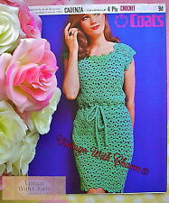 Vintage 1960s Crochet Pattern Lady's Sophisticated Dress JUST £2.69 Free P&P!