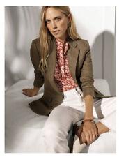 Ralph Lauren Womens Herringbone Tweed Blazer Jacket 12 Green