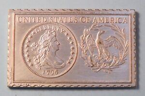 1796 United States of America 1/2 Half Dime Numistamp Medal 1979 Mort Reed
