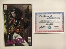 DAREDEVIL #23 SIGNED STAN LEE DOMINO JIM LEE VARIANT X-MEN TRADING CARD