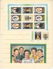 Belize, Postage Stamp, #809-811 Mint Nh Sheets, 1986 Queen Elizabeth