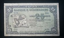 1942 Guadeloupe 25 Francs Banknote P22
