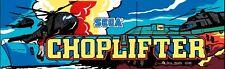 """""""Chopperlifter"""" Original Arcade Marquee Plexiglas Nos marquee Brand New!"""
