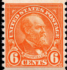 1932 6c James Abram Garfield, 20th President, Coil Scott 723 Mint F/Vf Nh