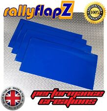 4mm Universal PVC MITSUBISHI LANCER Mud Flaps 400mm x 450mm Qty4 Mudflaps BLUE