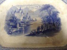 Antique 1800's  Flow Mulberry Ironstone Platter