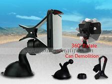 Car Windshield Mount Bracket Holder Cradle Stand For Samsung Galaxy iPhone Black