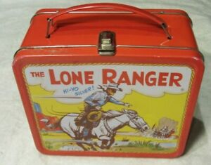 """THE LONE RANGER COLLECTOR METAL LUNCH BOX 1995 Edition Broadway Video 7"""" x 8"""""""