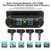 Wireless Solar TPMS Reifendruckkontrollsystem 4 Interne Sensor Auto Reifendruck