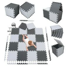 20Pc Large Grey White Foam mat Matting Kids Garden Fitness Nursery Mats Playmat