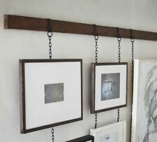 "23"" Multi Photo Frame Rail Set Hanging Picture Modern Display Wall Art, Bronze"