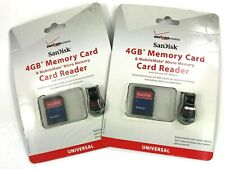 Sandisk Verizon Wireless Universal 4GB Memory Card And Micro Memory Card Reader