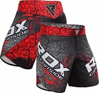 RDX MMA Fight Shorts Kick Boxing Training Mens Gym Wear Muay Thai Cage Fighting
