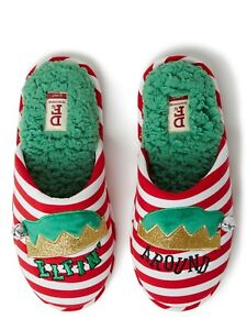 DF by Dearfoams Women's Christmas Elf Scuff Slippers
