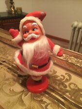 Vtg 1950-60's Dancing Santa Figure Decoration Felt