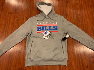 NFL Men's Buffalo Bills Gray Helmet Hoodie Sweatshirt Large L Football