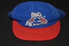 Vintage BLUE & RED BIG A FILTERS Mesh Foam Trucker Snapback Hat Cap