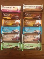 2018 Quest Protein 8 Bars Assorted Flavours & 4 Power Crunch Bars, grenade