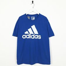 Vintage ADIDAS Big Logo T Shirt Tee Blue | XL