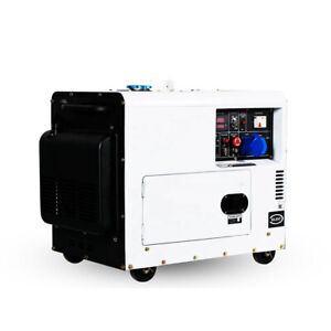 AC Electric Start Portable 5.5kw Diesel Generator Coolant Single Phase Silence