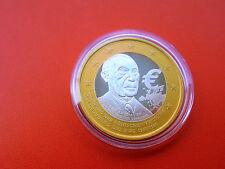 *Silber Medaillen ca.15,2 gr.(500)Edelt Vergoldet* Väter des Euro* K. Adenauer