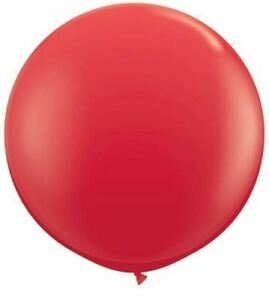 Red 3ft Qualatex Latex Giant Balloon