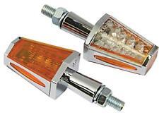 Bike It  Sabre LED  Motorcycle Indicators Chrome Finish Amber Lens INDLED24 T