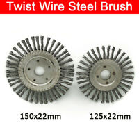 Twist Knot Flat Wire Wheel Cup Brush 125mm 150mm To Fit Angle Grinder