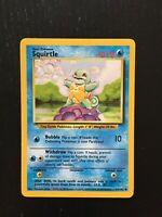 1999 BASE 63/102 SQUIRTLE Pokemon NM