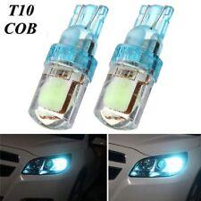 2Pcs T10 194 W5W COB LED Car License Plate Light Width Bulb Ice Blue DC 12V