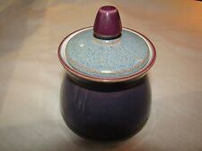 DENBY STORM Sugar Bowl with lid Purple / Grey IN NEAR MINT CONDITION