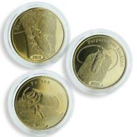 Sumatera Utara 500 rupiah set of 3 coins Beetles bimetal 2018