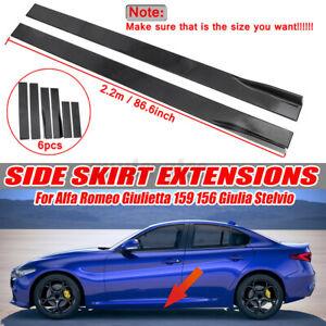 2.2m Matte Side Skirt Spoiler For Alfa Romeo Giulietta 147 159 Giulia Stelvio