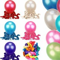 "100PCS 10"" Pearl Latex Helium Ballons Xmas Wedding Birthday Party DIY Decoration"