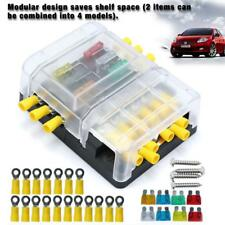 6 Way Blade Fuse Box Block Holder LED Indicator + 8 Fuses for Car Marine Truck