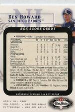 BEN HOWARD 2002  Fleer Box Score Debuts #6 San Diego Padres #D  /2002