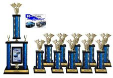 SMALL CAR SHOW AWARD TROPHY PACKAGE 3A TOP 10 CAR SHOW AWARDS