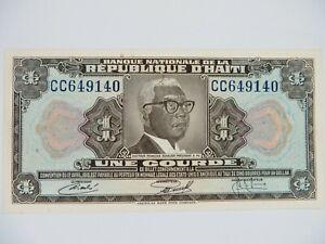 HAITI - Republique D'Haiti - UNE GOURDE - Serial Number CC649140