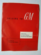Selling to GM (General Motors) Products Brochure & Directory 1950's
