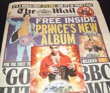 PRINCE Planet Earth WITH ORIGINAL NEWSPAPER! (LIMITED Europe PROMO CD)