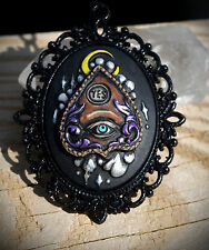 Ouija Spirit Board Planchette Inspired Hand Made Necklace Occult/Goth/Wicca/Alt