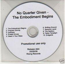 (J317) No Quarter Given, The Embodiment Begins  - DJ CD