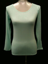 Womens Ladies Plain Round Neck Long Sleeve Top