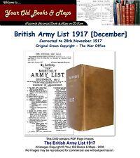 British Army List 1917 WW1 DVD