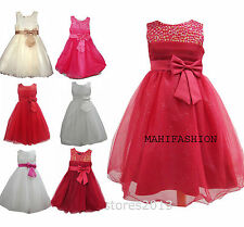 KIDS BABY GIRLS  PARTY DRESS WEDDING/ OCCASION/PARTY TUTU /CHRISTMAS AGE 3-13YRS
