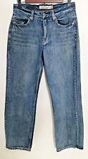 Aeropostale Jeans 28x28 Essex Straight Leg Medium Wash Distressed 100% Cotton
