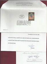 Christkindl 41. Eröffnung 1990 Widmungen des Präsidenten !!