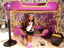 Monster High lot Room To Howl Bunk Beds w/Dead Tired Clawdeen 100% complete Rare